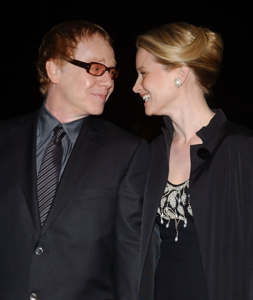 Bridget Fonda and Danny Elfman.