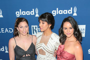 Chelsea Peretti, Melissa Fumero and Stephanie Beatriz are seen attending the 29th Annual GLAAD Media Awards at The Beverly Hilton Hotel in Los Angeles, California.