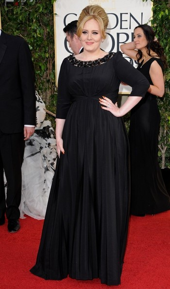 70th Annual Golden Globe Awards..The Beverly Hilton, Beverly Hills, CA..January 13, 2013..Job: 130113A1..(Photo by Axelle Woussen)..Pictured: Adele...