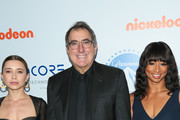 Olesya Rulin, Kenny Ortega and Monique Coleman are seen arriving at the 9th Annual Thirst Gala at The Beverly Hilton Hotel in Los Angeles, California.