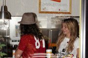 Mischa Barton and boyfriend Cisco Adler picked up gas and a juice at Robek's on the way the Gunnar Peterson's gym.