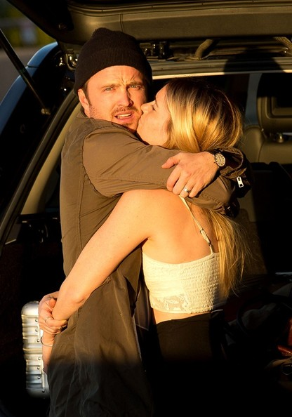 Saturday: Aaron Paul and Lauren Parsekian