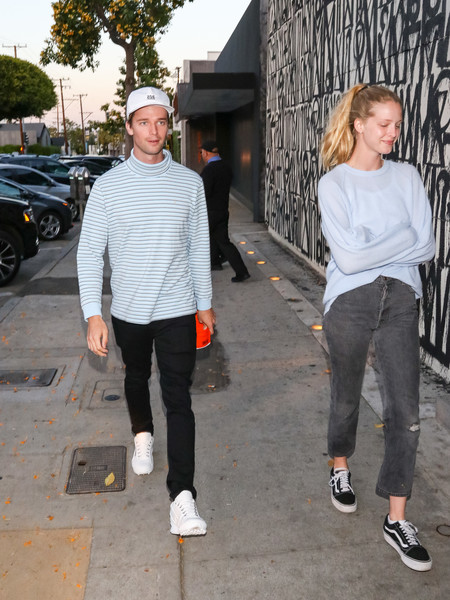 Patrick Schwarzenegger And Abby Champion Outside Craig's Restaurant In West Hollywood
