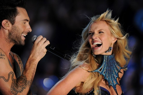 Adam Levine And Anne V Photos Photos