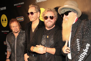 Michael Anthony, Matt Sorum, Sammy Hagar and Billy Gibbons are seen attending the Adopt the Arts Annual Rock Gala at Avalon Hollywood in Los Angeles, California.