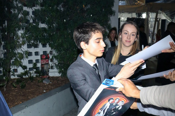 Aidan Gallagher Aidan Gallagher outside ArcLight Theatre in Hollywood