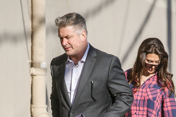 Alec Baldwin Hilaria Baldwin Alec Baldwin and Wife Hilaria Baldwin Arrive at 'Jimmy Kimmel Live'