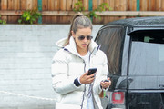 Alessandra Ambrosio Steps Out In The L.A. Rain