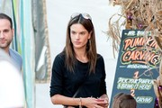 Alessandra Ambrosio and Family at the Pumpkin Patch