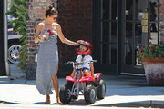 Alessandra Ambrosio and Son Noah Go for a Walk