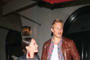Alexander Ludwig and Paola Nunez are seen in Los Angeles, California.