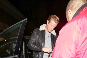 Alexander Ludwig Alexander Ludwig Outside Craig's Restaurant In West Hollywood