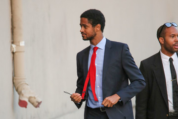 Alfred Enoch Celebrity Sightings at 'Jimmy Kimmel Live'