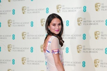 Alicia Vikander BAFTA 2014 Press Room
