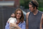 "Alicia Silverstone is joined by her husband, rocker Christopher Jarecki and their new son Bear Blu Jarecki  (b. May 5, 2011) while filming her new comedy ""Gods Behaving Badly."" ."