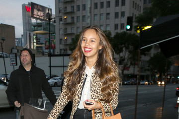 Alisha Boe Celebrity Sightings at Avalon Nightclub