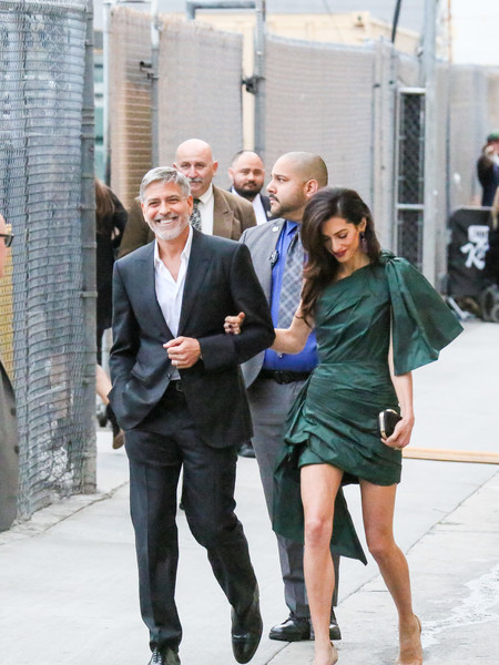 George Clooney At 'Jimmy Kimmel Live'