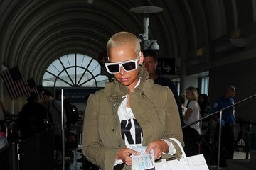 Amber Rose Amber Rose Arrives at LAX