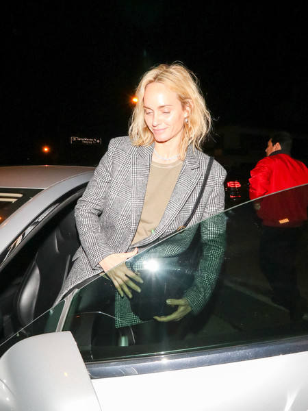 Amber Valletta Is Seen At Craig's Restaurant In West Hollywood