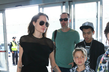 Angelina Jolie Angelina Jolie and Family Are Seen at JFK