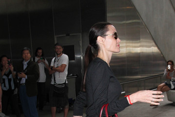 Angelina Jolie Angelina Jolie and Her Family Are Seen at LAX