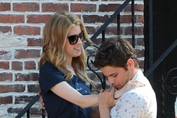 Anna Kendrick Jeremy Jordan Scenes From 'The Last Five Years' Set