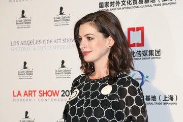 Anne Hathaway LA Art Show And Los Angeles Fine Art Show's 2016 Opening Night Premiere Party