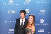 Amy Paffrath and Drew Seeley are seen attending at the Art of Elysium's 12th Annual Celebration Heaven at the Cosmetic Plaza in Los Angeles, California.