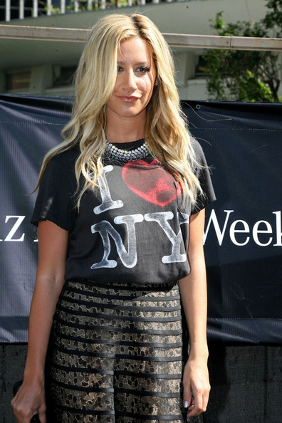Ashley Tisdale Day 2 of the Spring 2012 Mercedes-Benz Fashion Week.
