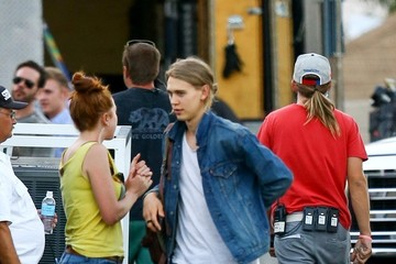 Austin Butler Austin Butler on the Set of 'Yoga Hosers'