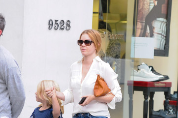 Aviana Le Gallo Amy Adams Is Seen Out With Her Family