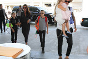 The Beckham Family Is Seen at LAX