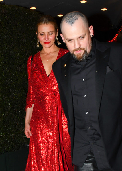 Cameron Diaz And Benji Madden Are Seen Out In Los Angeles [event,fashion,premiere,dress,formal wear,textile,fashion design,haute couture,carpet,dress,cameron diaz,benji madden,musician,celebrity,wear,textile,los angeles,california,premiere,benji madden,cameron diaz,los angeles,celebrity,musician,good charlotte,actor,guitarist]