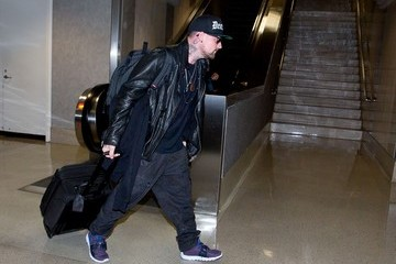 Benji Madden Benji Madden Arrives at LAX