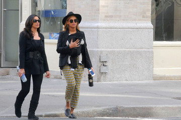 Beyonce Knowles Tina Knowles Beyonce and Blue Out in NYC