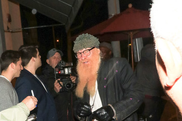 Billy Gibbons Billy Gibbons Outside Craig's Restaurant in West Hollywood