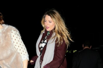 Blake Lively Amber Tamblyn and Blake Lively Leave the Theater