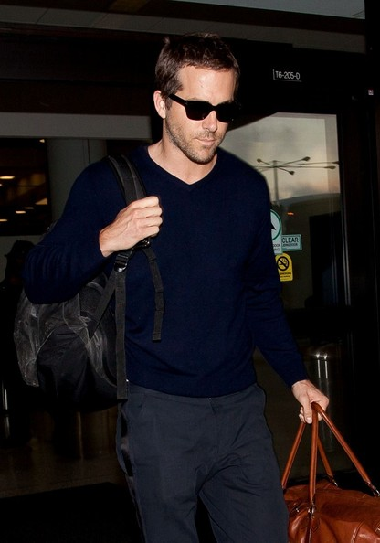 Blake Lively and Ryan Reynolds arrive at LAX (Los Angeles International Airport).