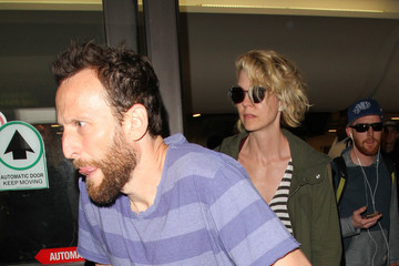 Bodhi Elfman Jenna Elfman and Bodhi Elfman Are Seen at LAX