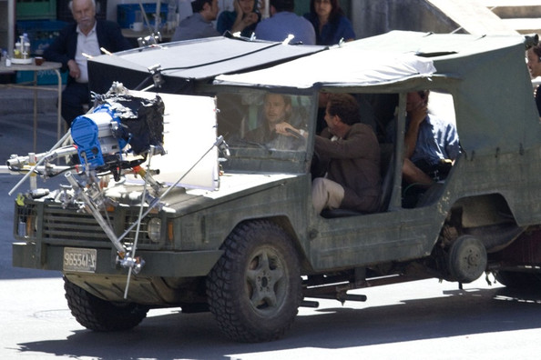 Brad Pitt continues filming on the set of his latest film World War Z in Valletta.