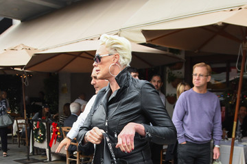 Brigitte Nielsen Brigitte Nielsen Goes Out For Lunch