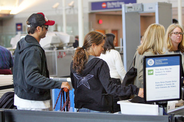 Brooke Burke David Charvet Brooke Burke and David Charvet at LAX