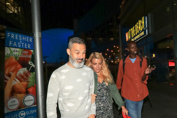 Busy Philipps Marc Silverstein Marc Silverstein And Busy Philipps Outside ArcLight Theatre