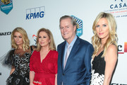 Paris Hilton, Kathy Hilton, Rick Hilton and Nicky Hilton Rothschild are seen attending the CASA of Los Angeles' 2018 Evening to Foster Dreams Gala at The Beverly Hilton Hotel in Los Angeles, California.