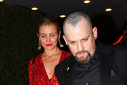 Cameron Diaz and Benji Madden are seen in Los Angeles, California on April 14,2018.
