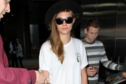 Cara Delevingne Arrives at LAX