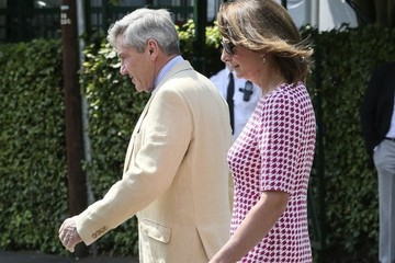 Carole Middleton Carol and Michael Middleton at Wimbledon