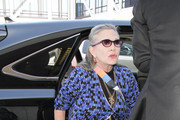Carrie Fisher is seen at LAX.