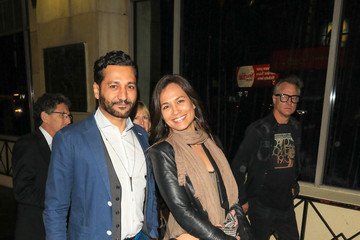 Cas Anvar Cas Anvar and Nadine Nicole Are Seen Outside the Roosevelt Hotel in Hollywood