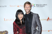 Jeff Vezain and Suzanne Whang are seen arriving to the 2nd Annual Legacy Series Charity Gala at The Casa Del Mar Hotel.